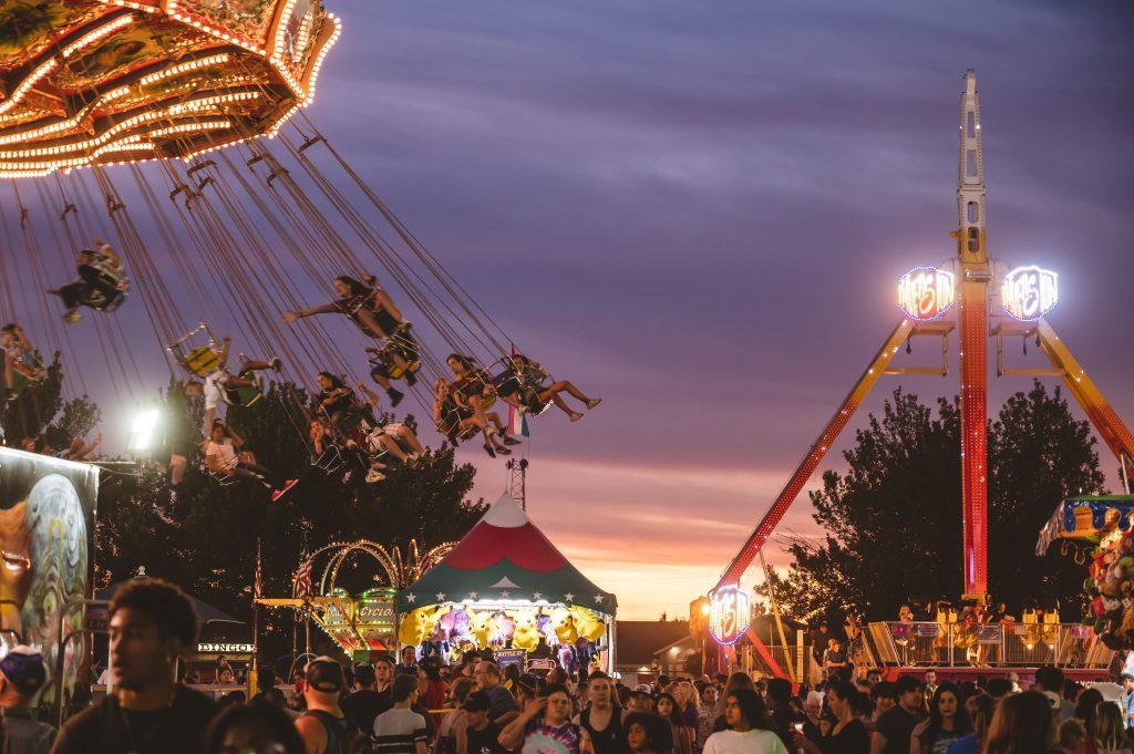 A Fair at Sunset